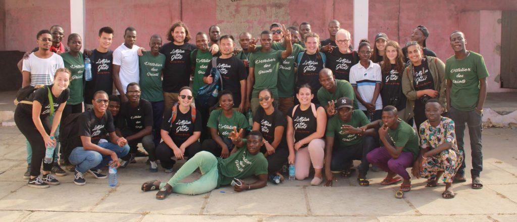 Latelier des Griots benin group picture